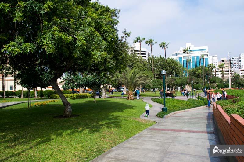 Parques en la ciudad de Lima.