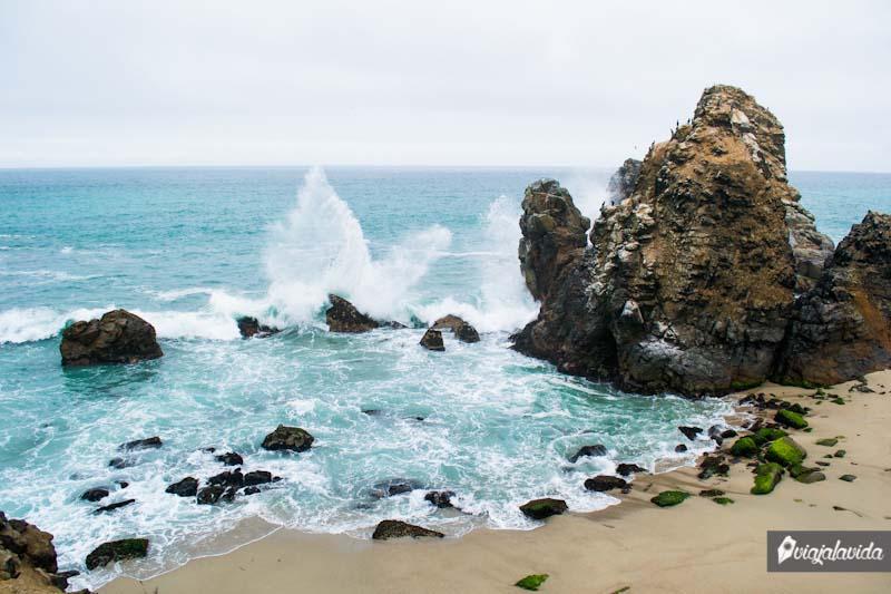 Punta Negra y sus fuertes olas.