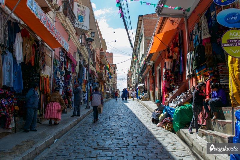 Centro antiguo de La Paz.