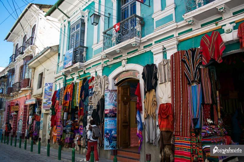 Calles del centro de La Paz.