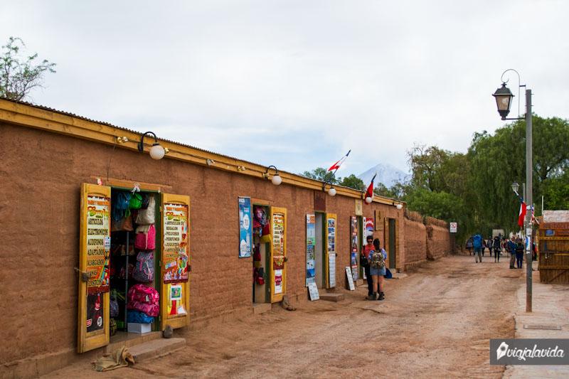 Tiendas en San Pedro de Atacama.