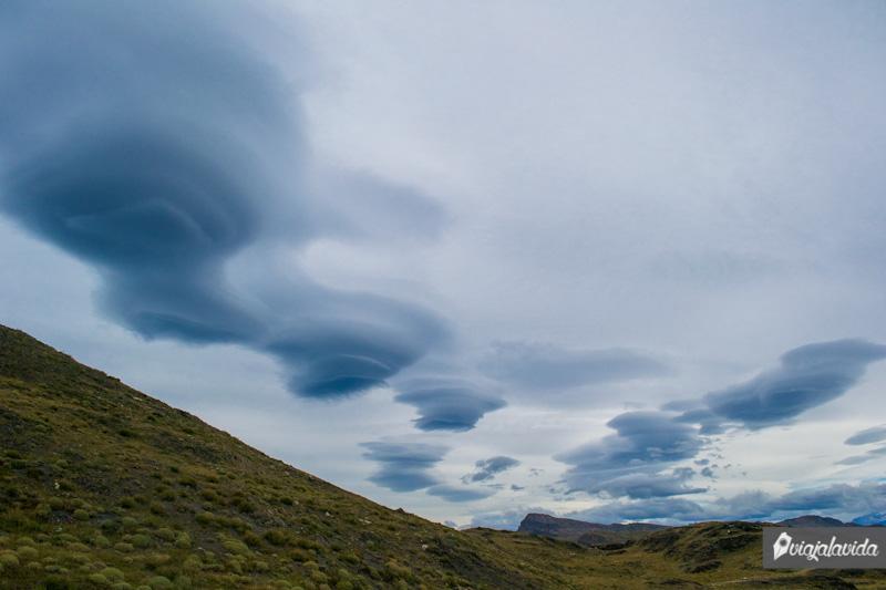 Nubes con formas extrañas en Chile.