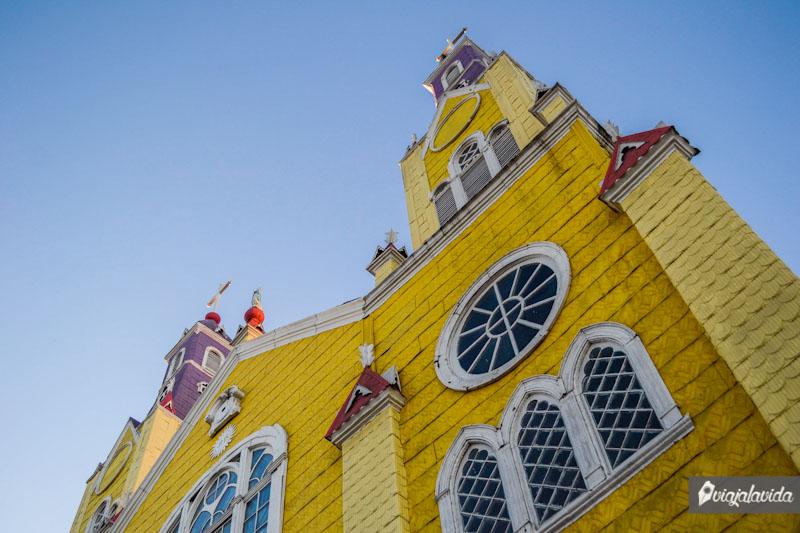 La iglesia de Castro en Chiloé.