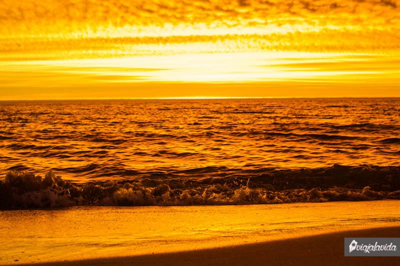 Atardecer en Punta del Este, Uruguay.