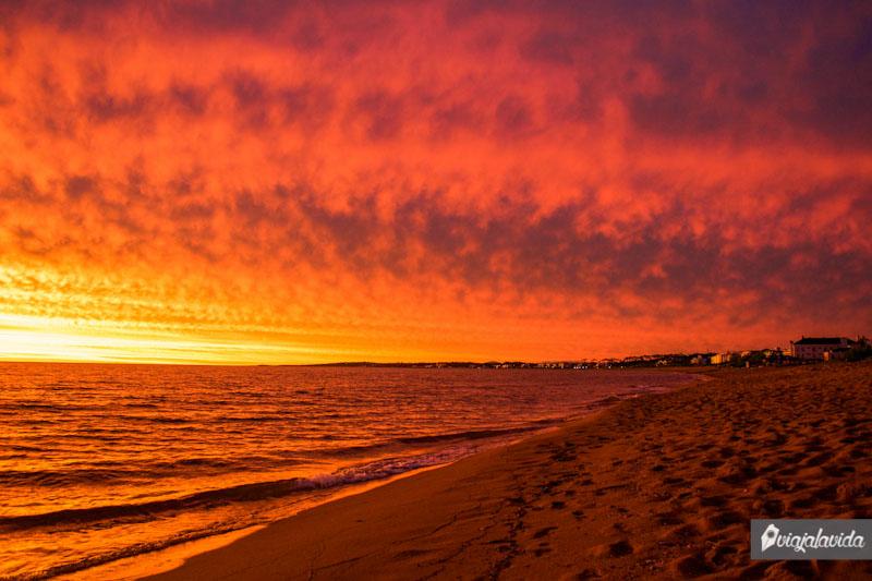 Cielo colorido en Punta del Este.