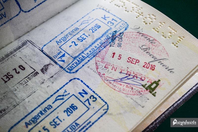 Pasaporte viajero.