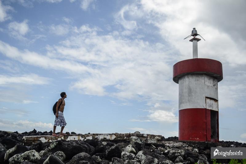 El antiguo faro de Punta Carola.