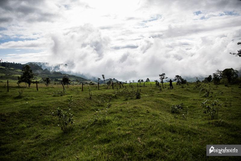Paisajes en Pallatanga, Ecuador.