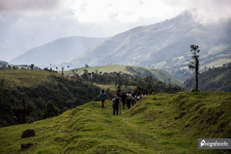 Senderos naturales en Jalubí, Pallatanga.