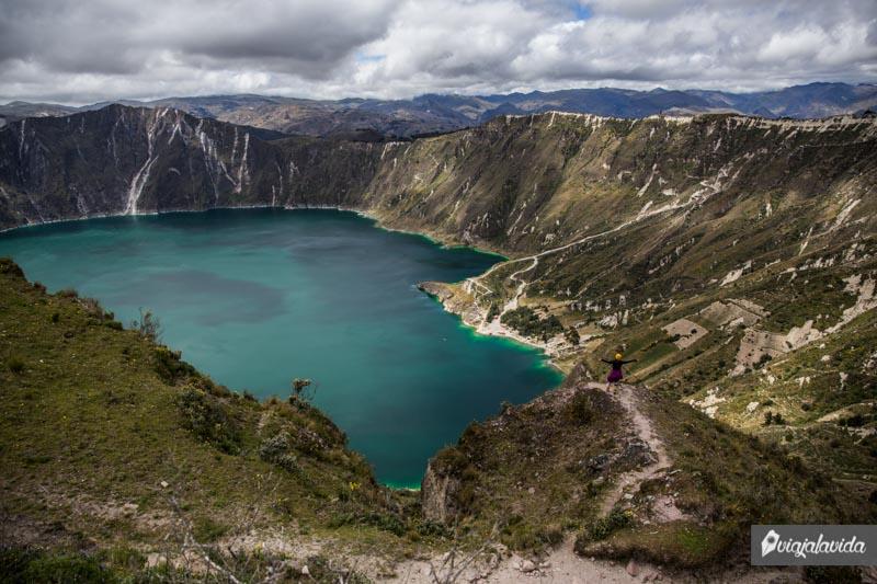 Sendero alrededor del Quilotoa.