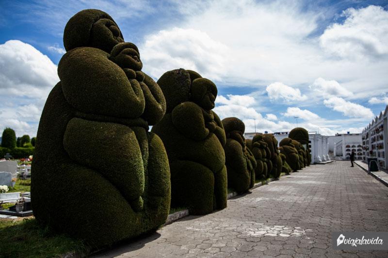 Árboles podados artísticamente.