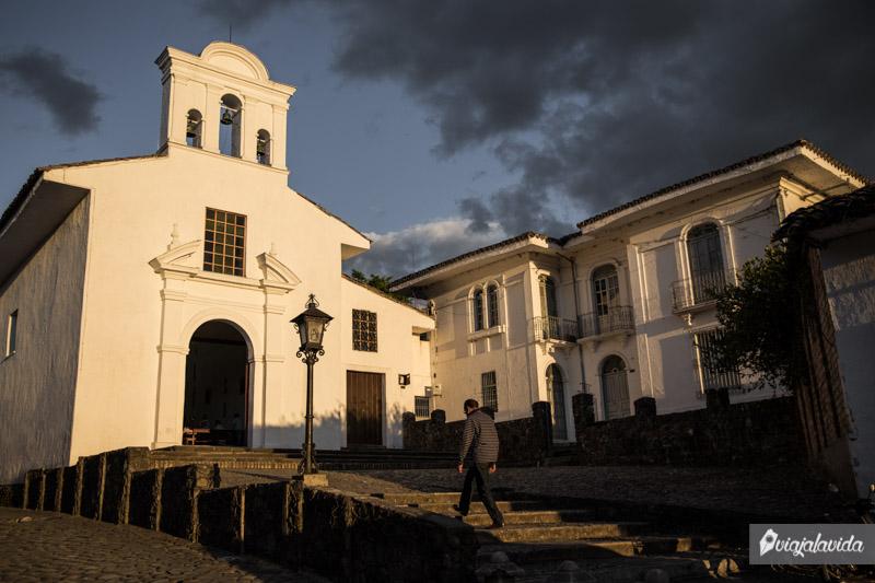 Iglesia en el centro histórico de Popayán.