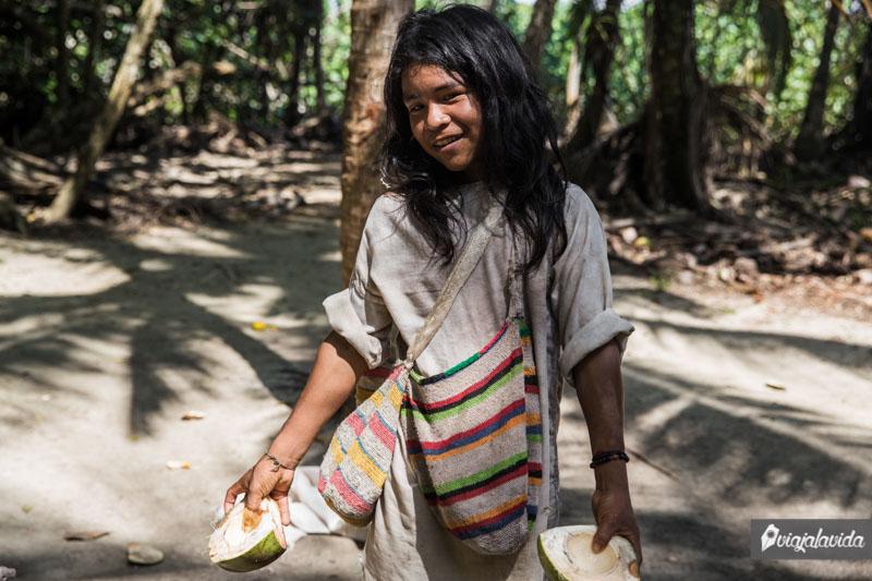 Niño indígena tayrona.