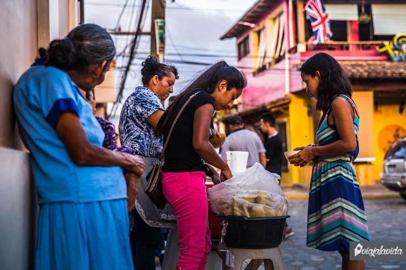 Puestos callejeros en Honduras.