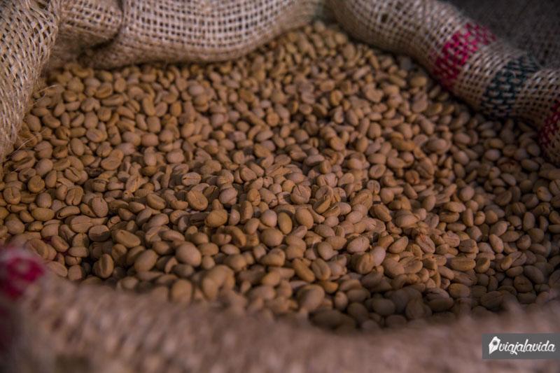 Sacos de café colombiano.
