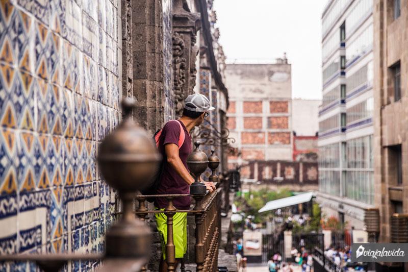 Casa de los Azulejos en México.