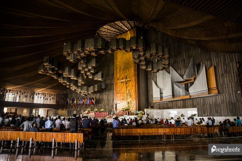 Misa en la Basílica de Guadalupe.
