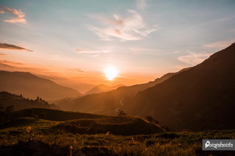 Paisajes desde la carretera, Sierra de Ecuador.