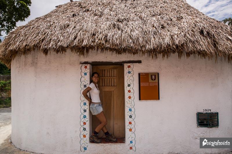 Una casa Maya en Valladolid.