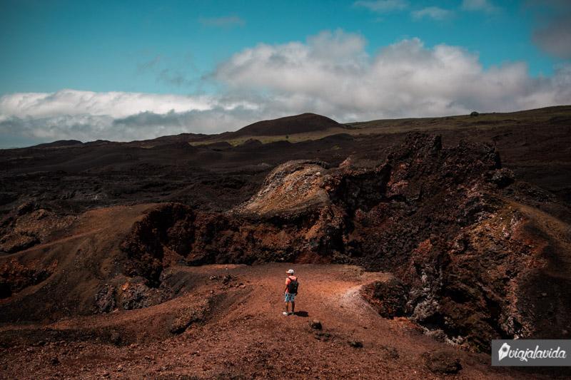 Caminata en el Volcán Sierra Negra, Galápagos