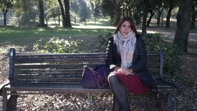 Descansando en Villa Borguese.