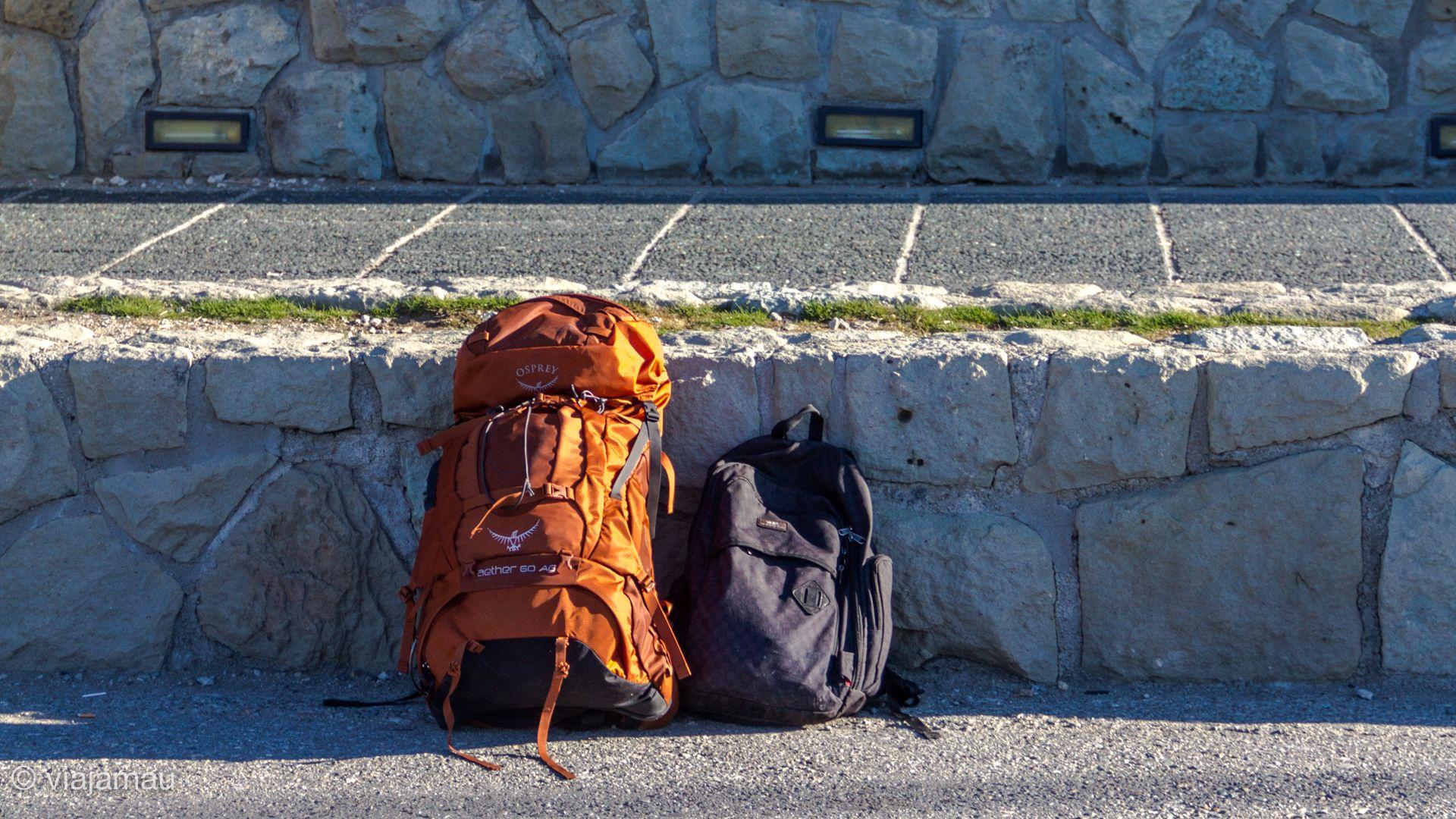 Mochilas listas para viajar