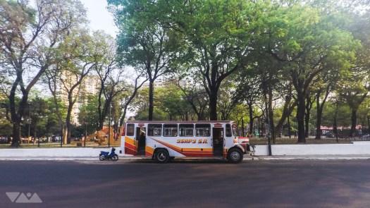 Transporte urbano en la calle