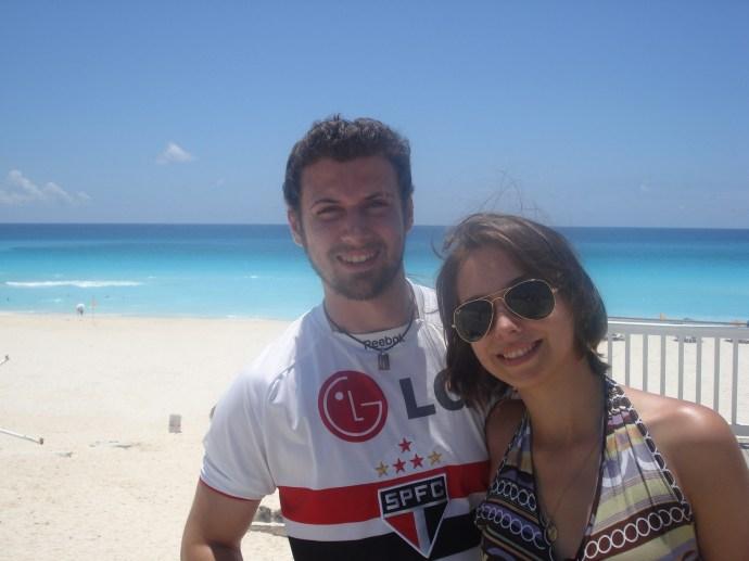 Em Cancún, depois de 'casados'...