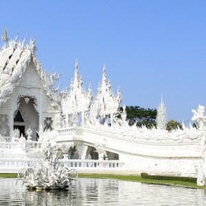 O incrível e surreal Wat Rong Kung, o famoso Templo Branco de Chiang Rai, na Tailândia