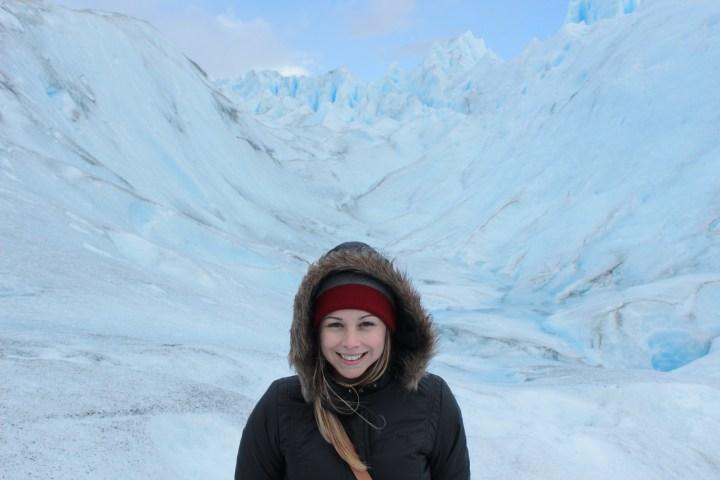 A cara da felicidade por andar no gelo!