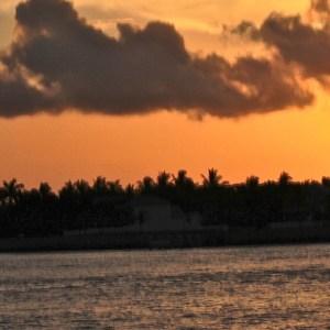 A celebração do pôr do sol em Key West