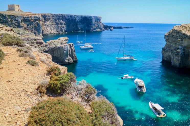 trilha na Blue Lagoon, Malta