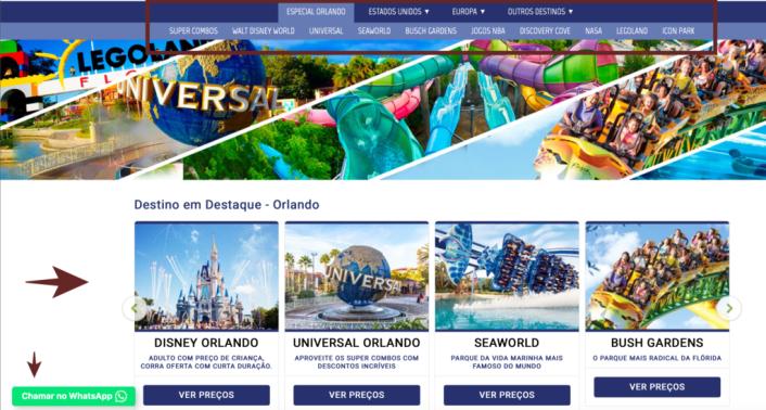 Ingressos para os Parques de Orlando