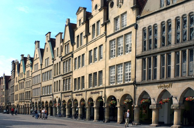 Münster_Prinzipalmarkt_Viajando bem e barato pela Europa