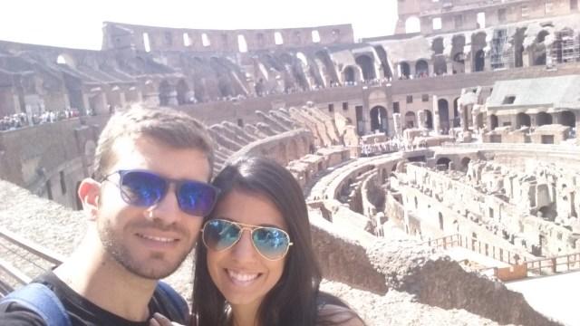 Lua de mel na Europa_Coliseu_Viajando bem e barato