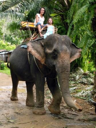 Kok Chang Safari Phuket com crianças