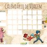 Calendário de viagem: para as crianças entrarem no clima!