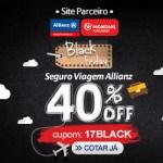 Aproveite a Black Friday com 40% de desconto no seguro de viagem!