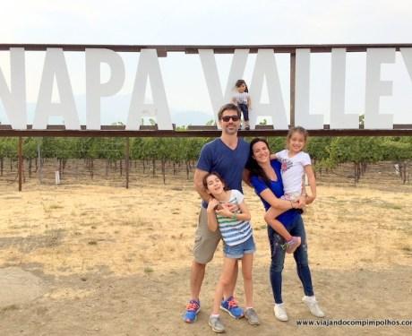 Napa Valley com crianças