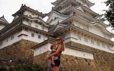 Una mañana en el Castillo de Himeji con bebé