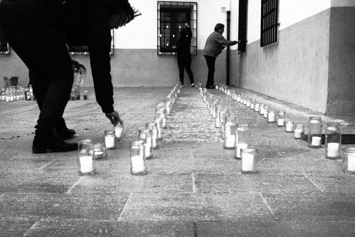 Colocando velas Utiel