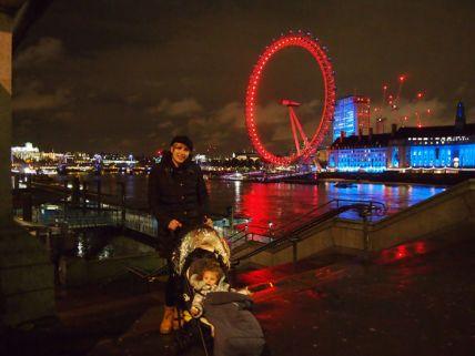 London Eye de noche