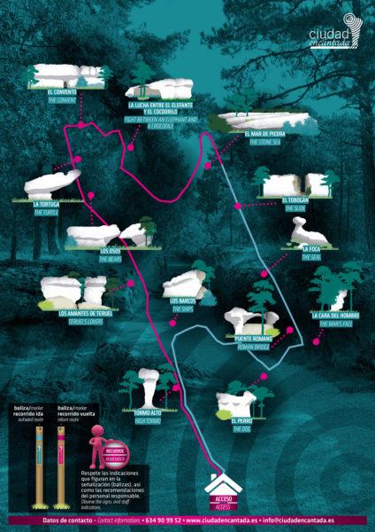 mapa ciudad encantada