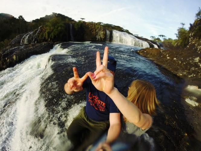 16 - Cachoeira do rio pelotas - viajando em 3.. 2... 1...