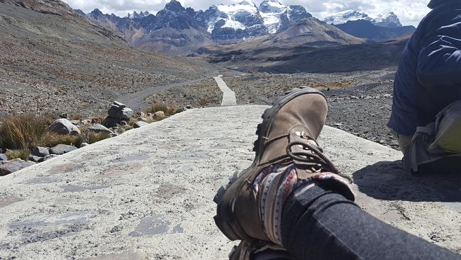 4-blog-viajando-em-321-huaraz-trilha-aclimatação-tour-glaciar-pastoruri-botas-ecosafety