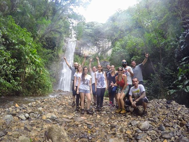 Rapel Cachoeira da Cortina - turma