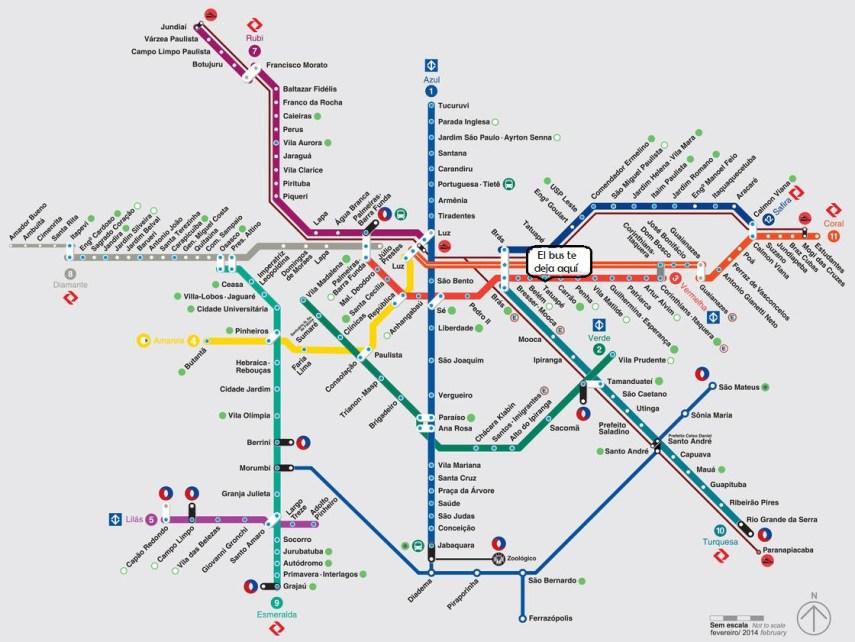 Metro de São Paulo - Cómo salir del aeropuerto de Guarulhos en transporte público