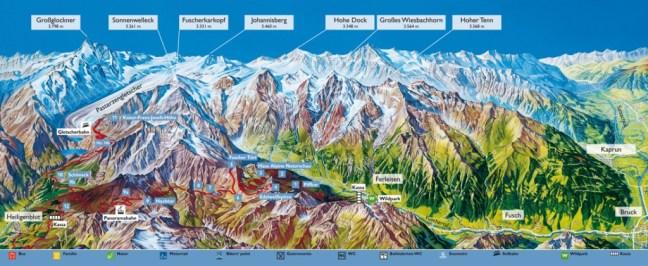 Plano carretera Grossglockner