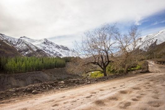 Paisagem linda vista na estrada para Embalse el Yeso