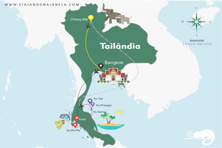 Roteiro Tailândia - Viajando na Janela